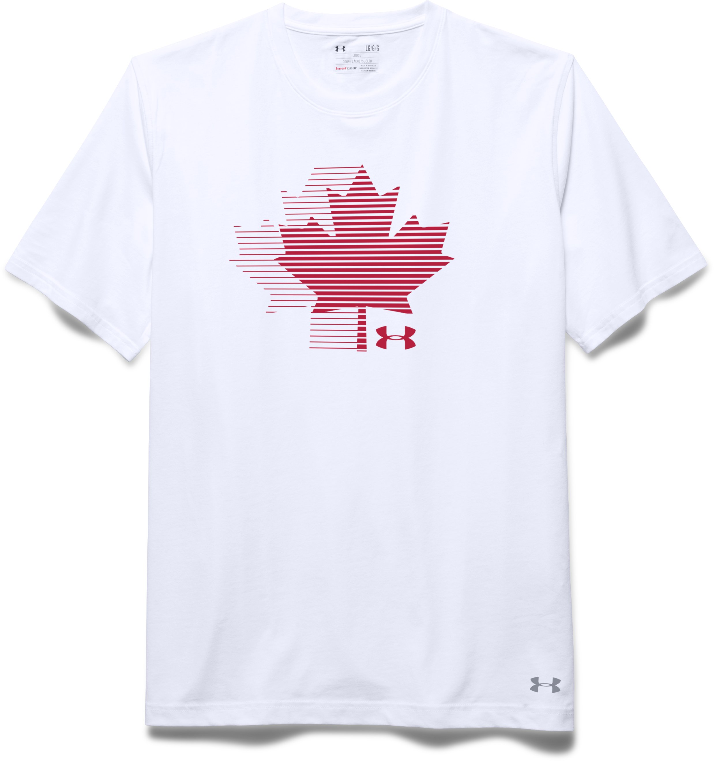 Men's UA Canada T-Shirt, White, Laydown
