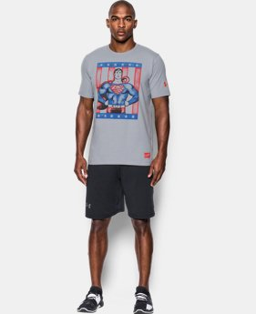 New to Outlet Men's UA Retro Superman T-Shirt  1 Color $20.24