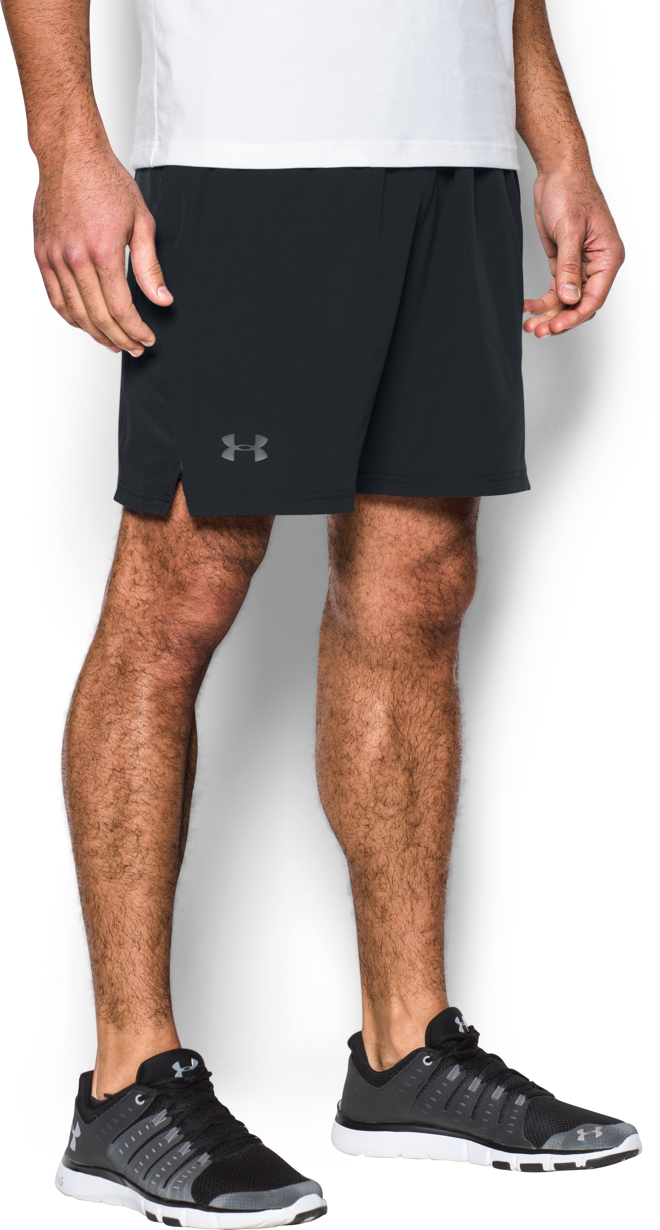 Men's UA Cage Shorts , Black , zoomed image