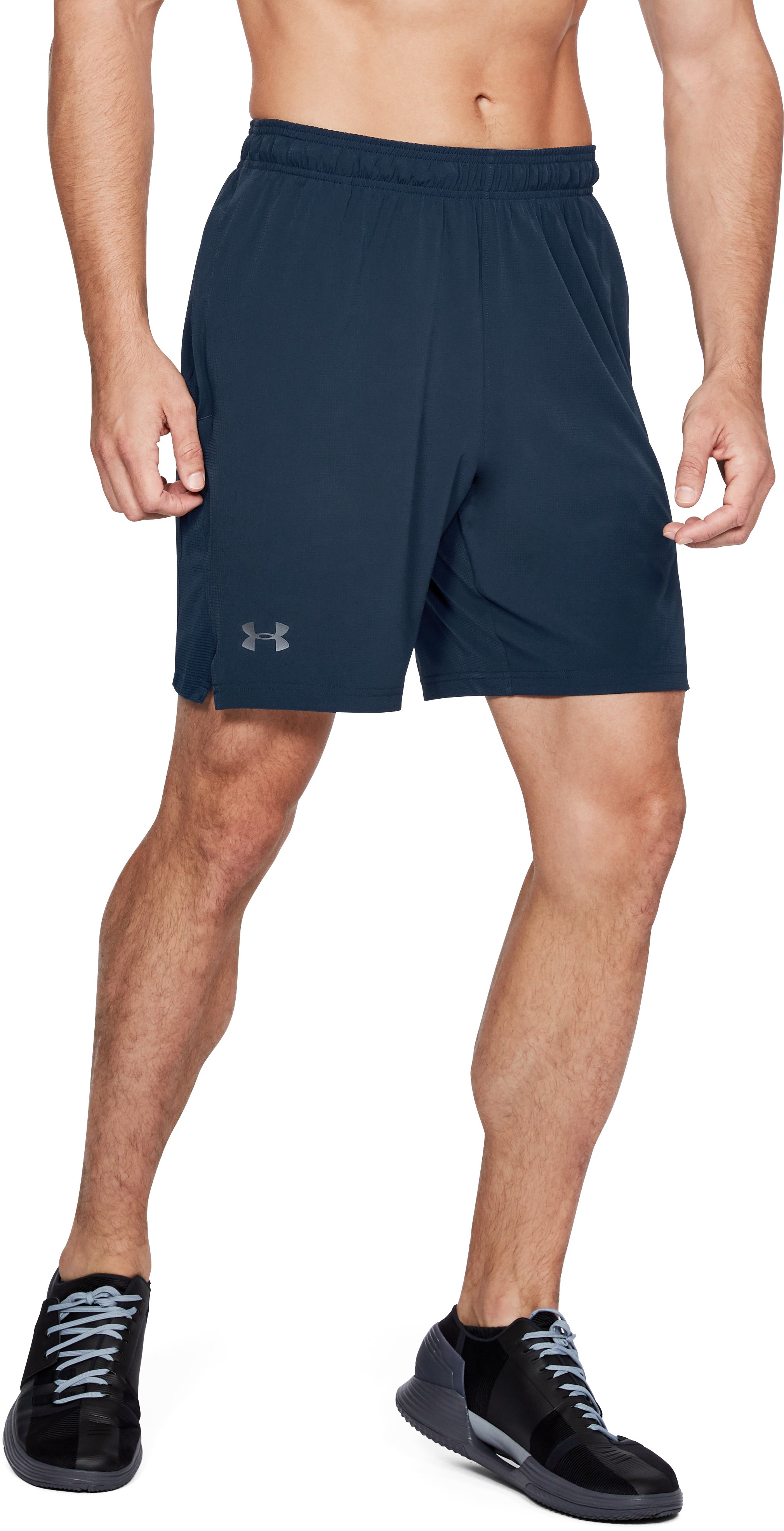 Men's UA Cage Shorts, Academy, undefined