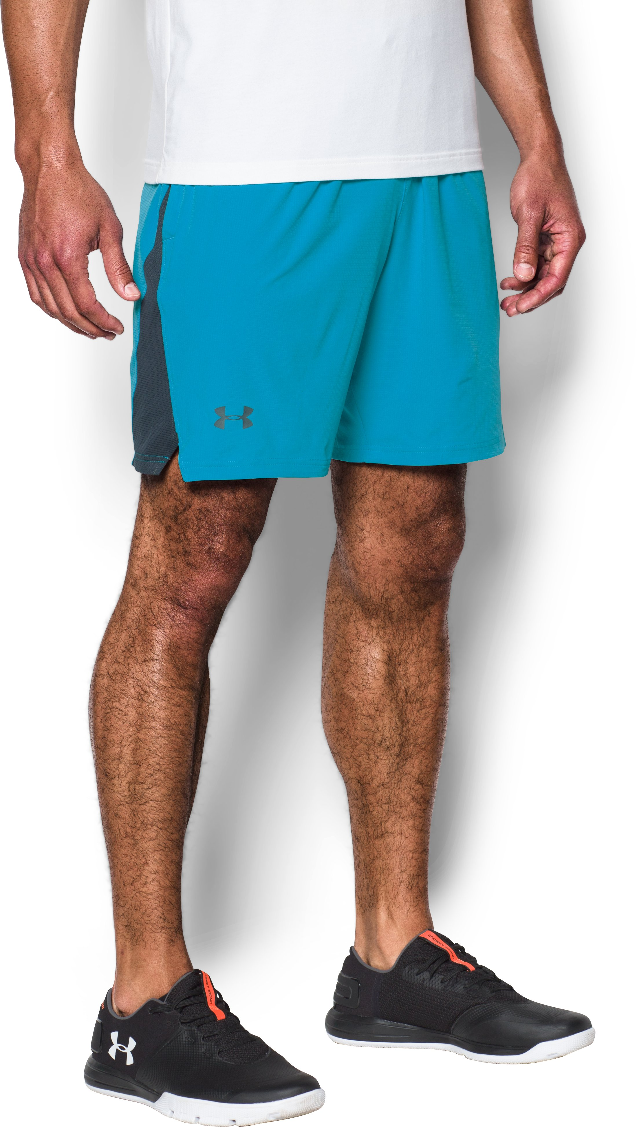 Men's UA Cage Shorts, BLUE SHIFT