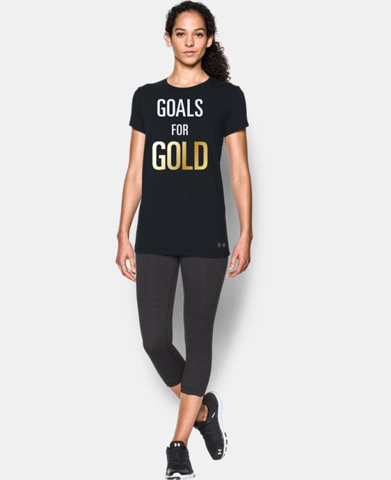 Women's UA Stars & Stripes Gold Short Sleeve T-Shirt  1 Color $24.99