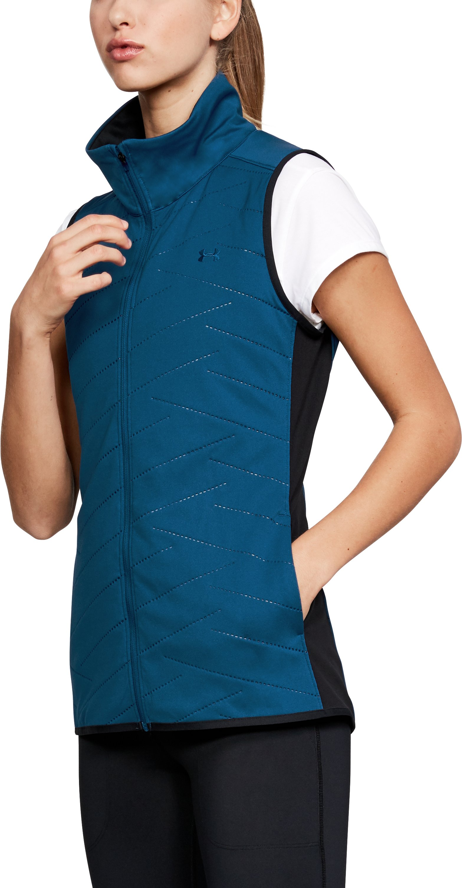 Women's ColdGear® Reactor Vest, MOROCCAN BLUE,