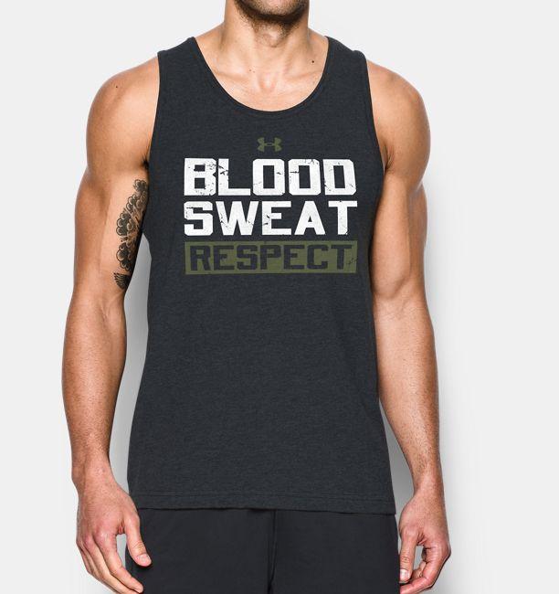 1ffd2ba21ff6e9 Men s UA x Project Rock Blood Sweat Respect Tank