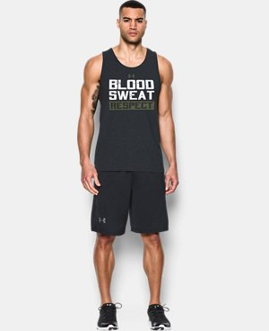 Best Seller  Men's UA x Project Rock Blood Sweat Respect Tank LIMITED TIME: FREE SHIPPING 1 Color $39.99