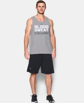 New Arrival  Men's UA x Project Rock BloodSweat Respect Tank  *Ships 9/30/2016* LIMITED TIME: FREE SHIPPING 1 Color $39.99