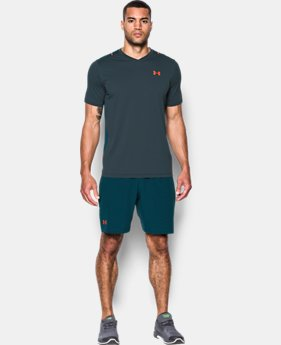 New Arrival  Men's UA Threadborne™ Center Court Printed V-Neck  2 Colors $69.99