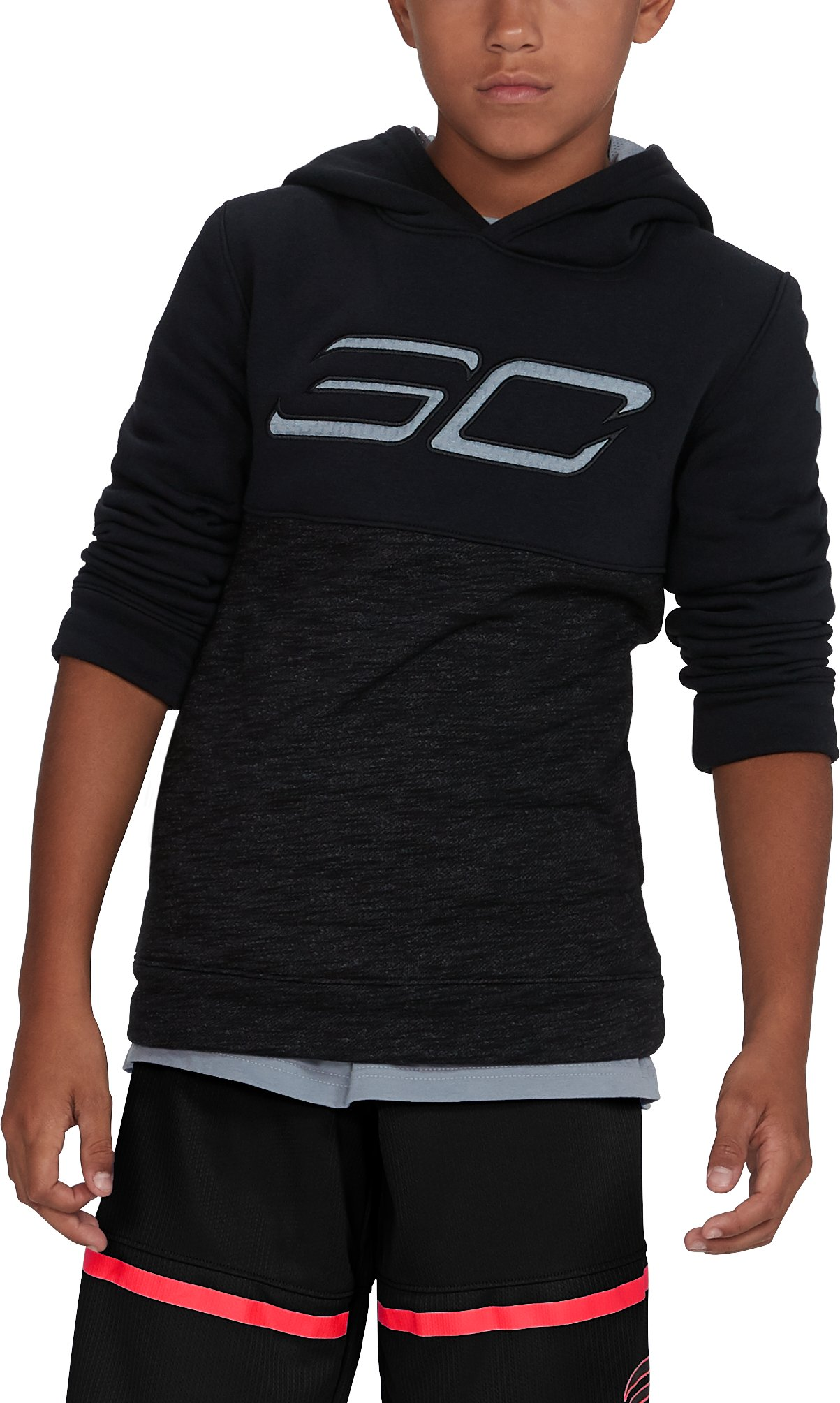 Boys' SC30 Fleece Logo Hoodie, Black , undefined