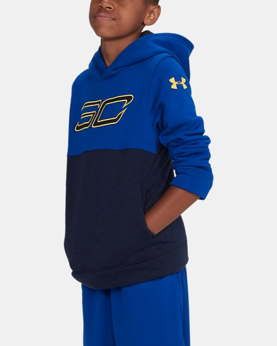 Boys' SC30 Fleece Logo Hoodie, Navy, pdpMainDesktop image number 3