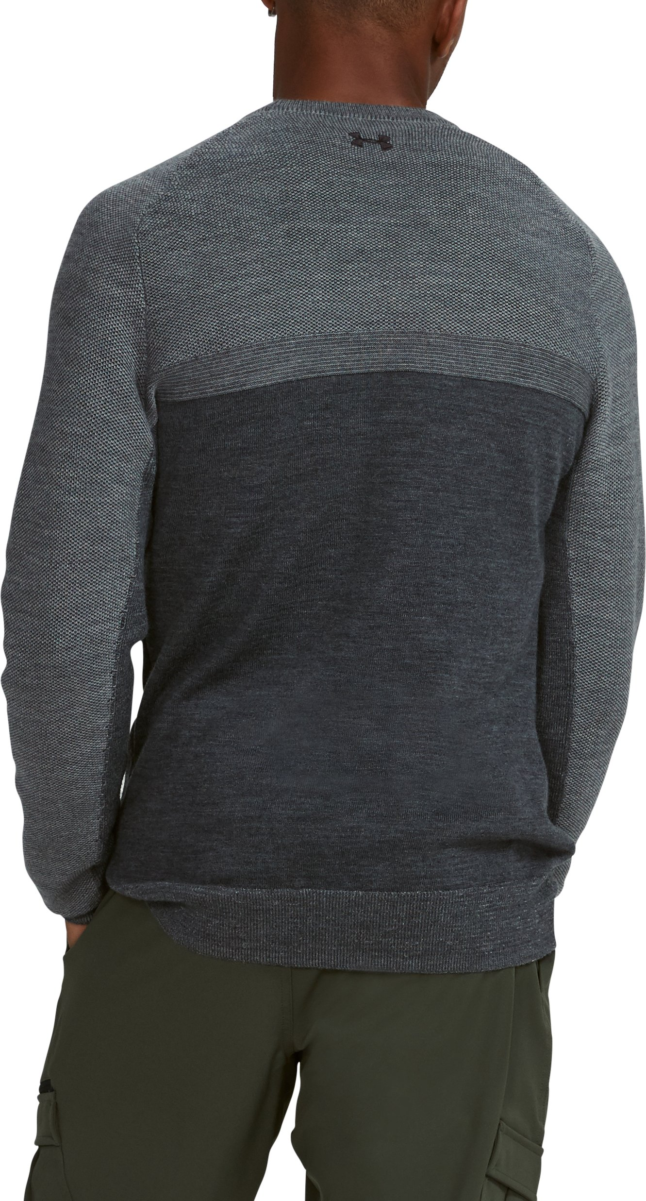 Men's UA Threadborne Crew Sweater, Carbon Heather, undefined