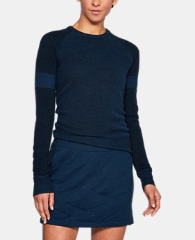 New Arrival Women's UA Threadborne Crew Sweater  2 Colors $109.99