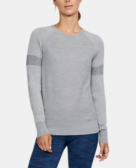New Arrival  Women's UA Threadborne Crew Sweater  1 Color $124.99