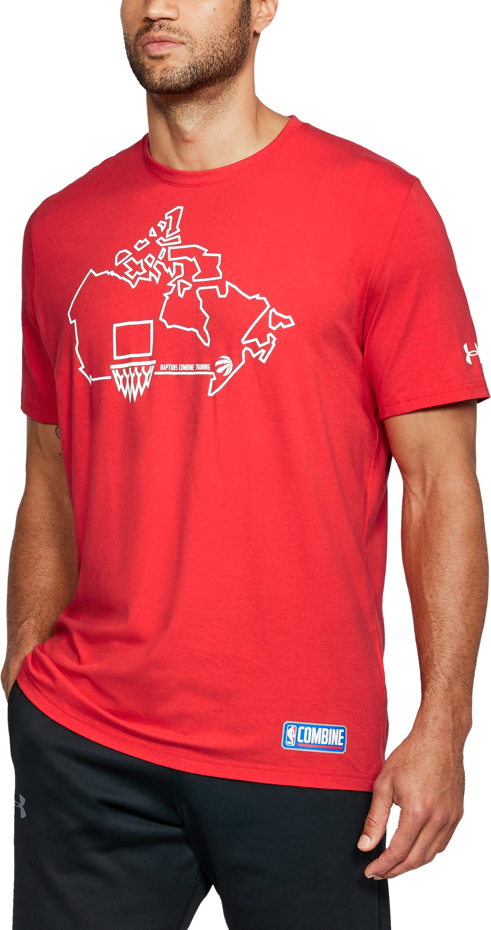 Men's NBA Combine UA Graphic State T-Shirt, NBA_TORONTO RAPTORS_RED