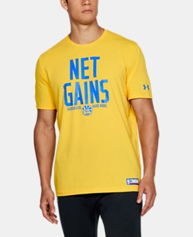 Men's NBA Combine UA HWD Net Gains T-Shirt   1  Color Available $35