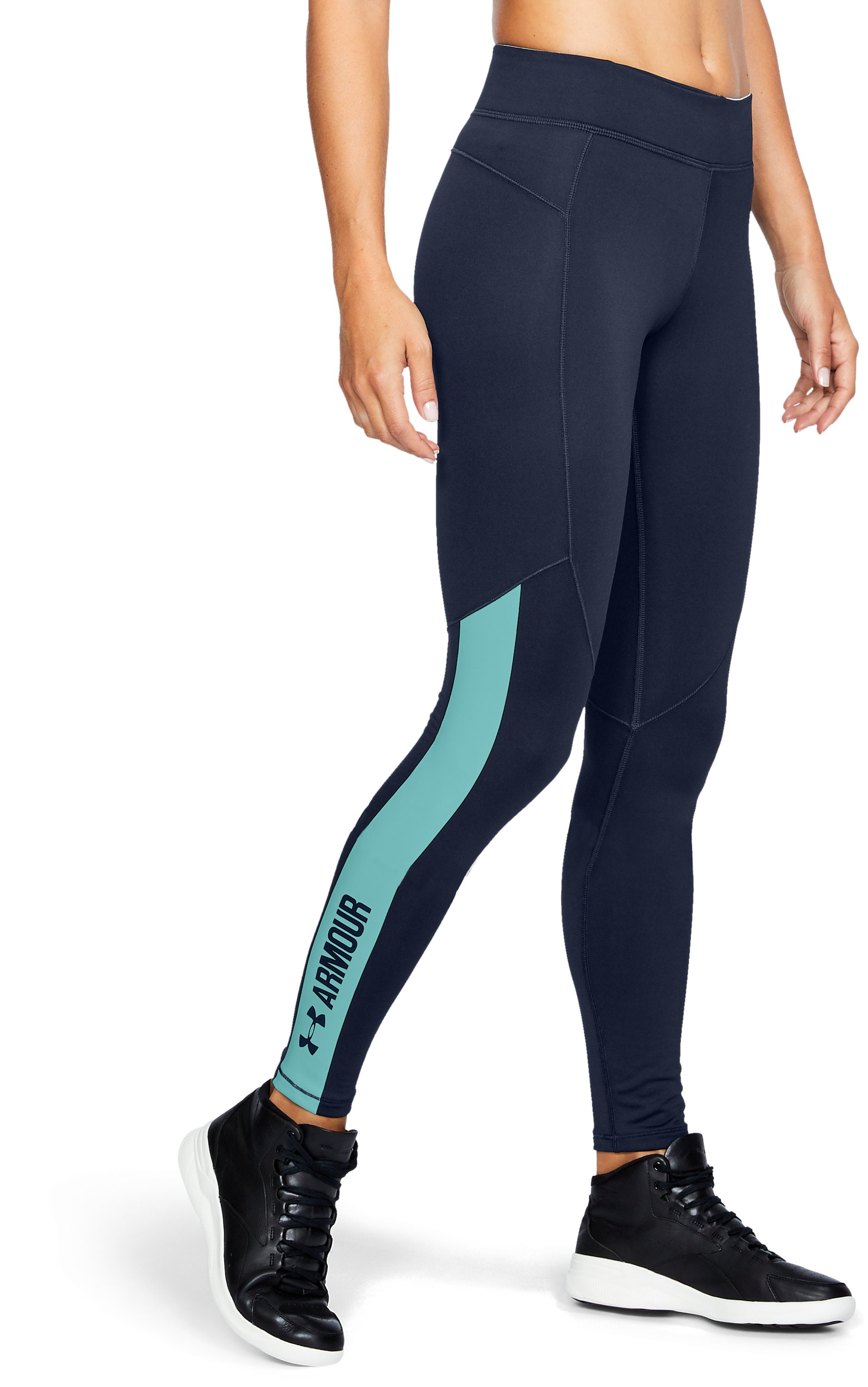 Women's ColdGear® Armour Graphic Leggings, Midnight Navy