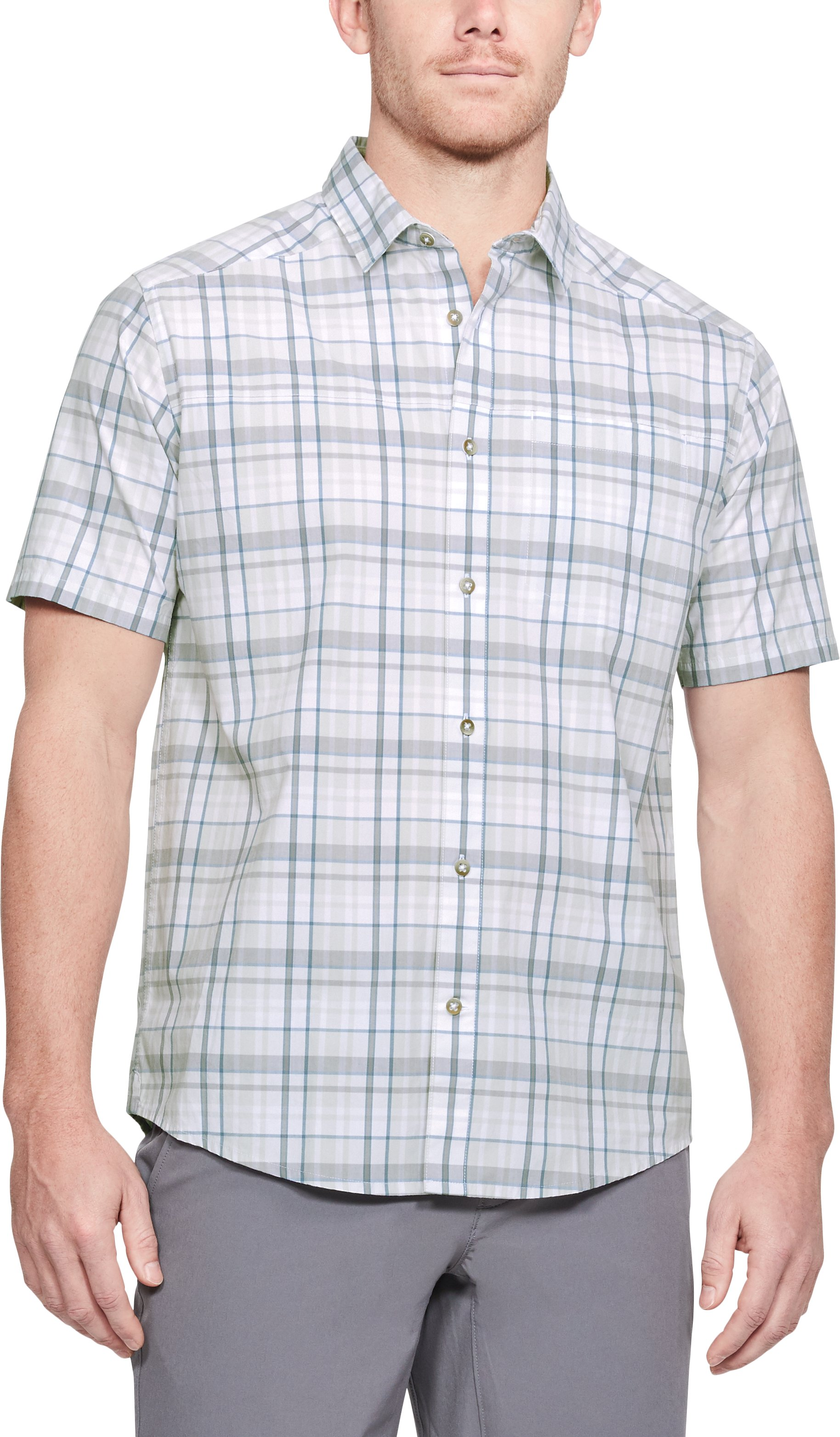 Men's UA Legacy Woven Short Sleeve Button Down 1 Color $65.00
