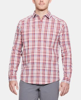 Men's UA Legacy Woven Long Sleeve Button Down  1 Color $75