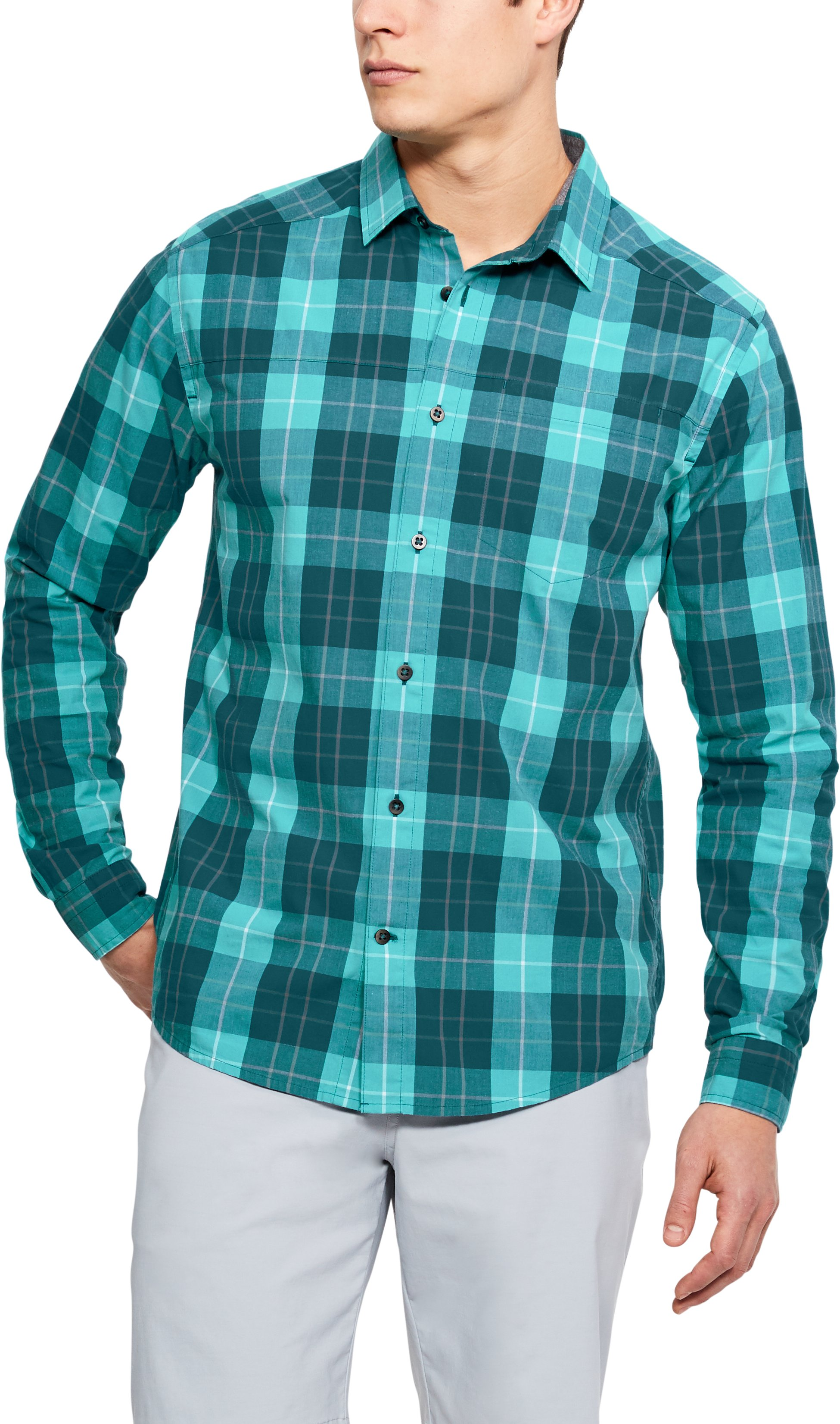 Men's UA Legacy Woven Long Sleeve Button Down 1 Color $56.25
