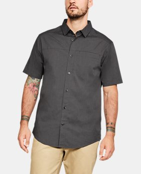 Men's UA Pierpoint Woven Short Sleeve Button Down   $60