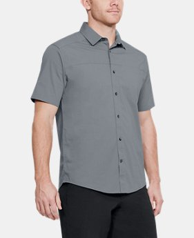 Men's UA Pierpoint Woven Short Sleeve Button Down FREE U.S. SHIPPING 3  Colors Available $60