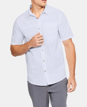Men's UA Pierpoint Woven Short Sleeve Button Down  1  Color $60