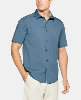 New Arrival Men's UA Pierpoint Woven Short Sleeve Button Down  1 Color $60