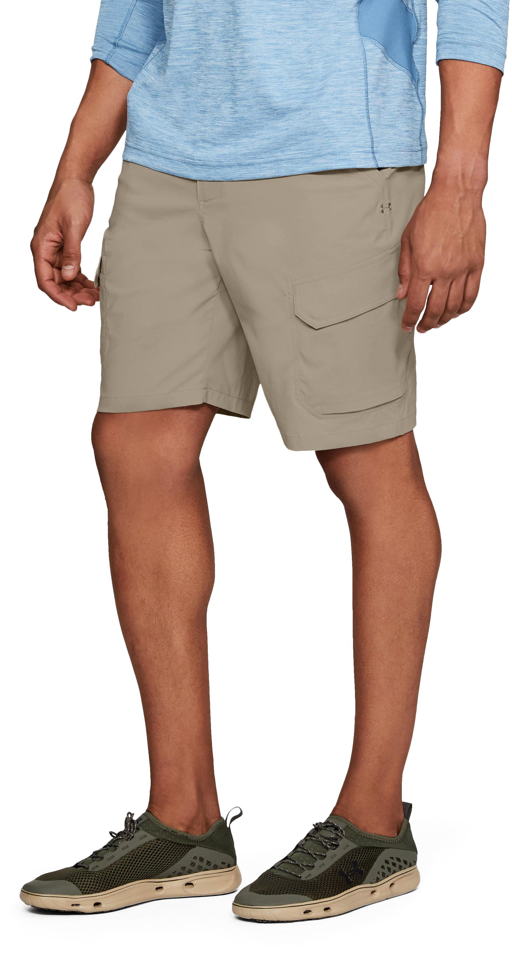 Men's UA Fish Hunter Cargo Shorts, CITY KHAKI