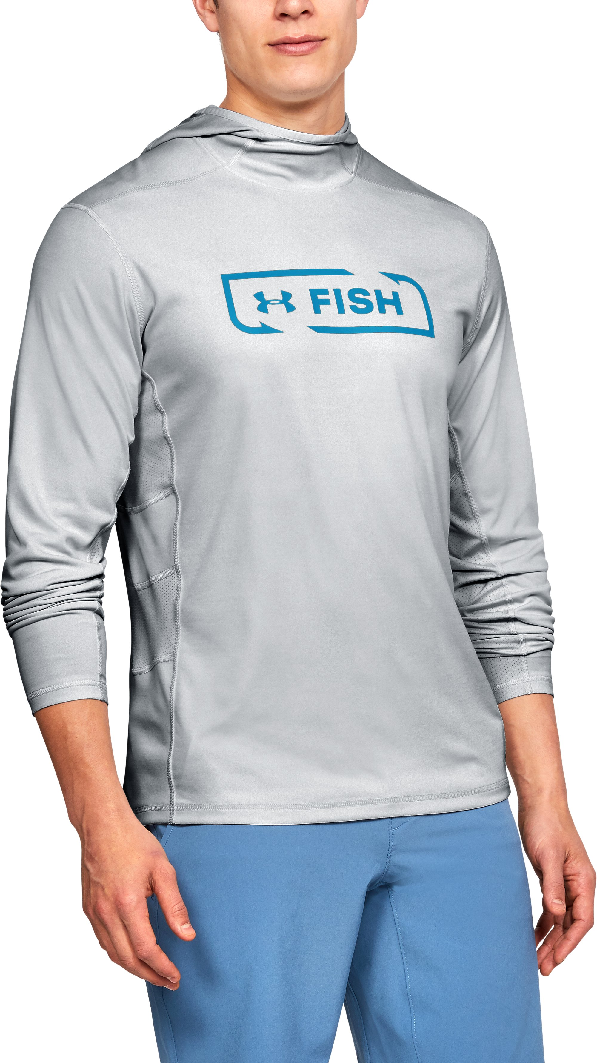 Men's UA Fish Hunter Tech Hoodie, ELEMENTAL LIGHT HEATHER