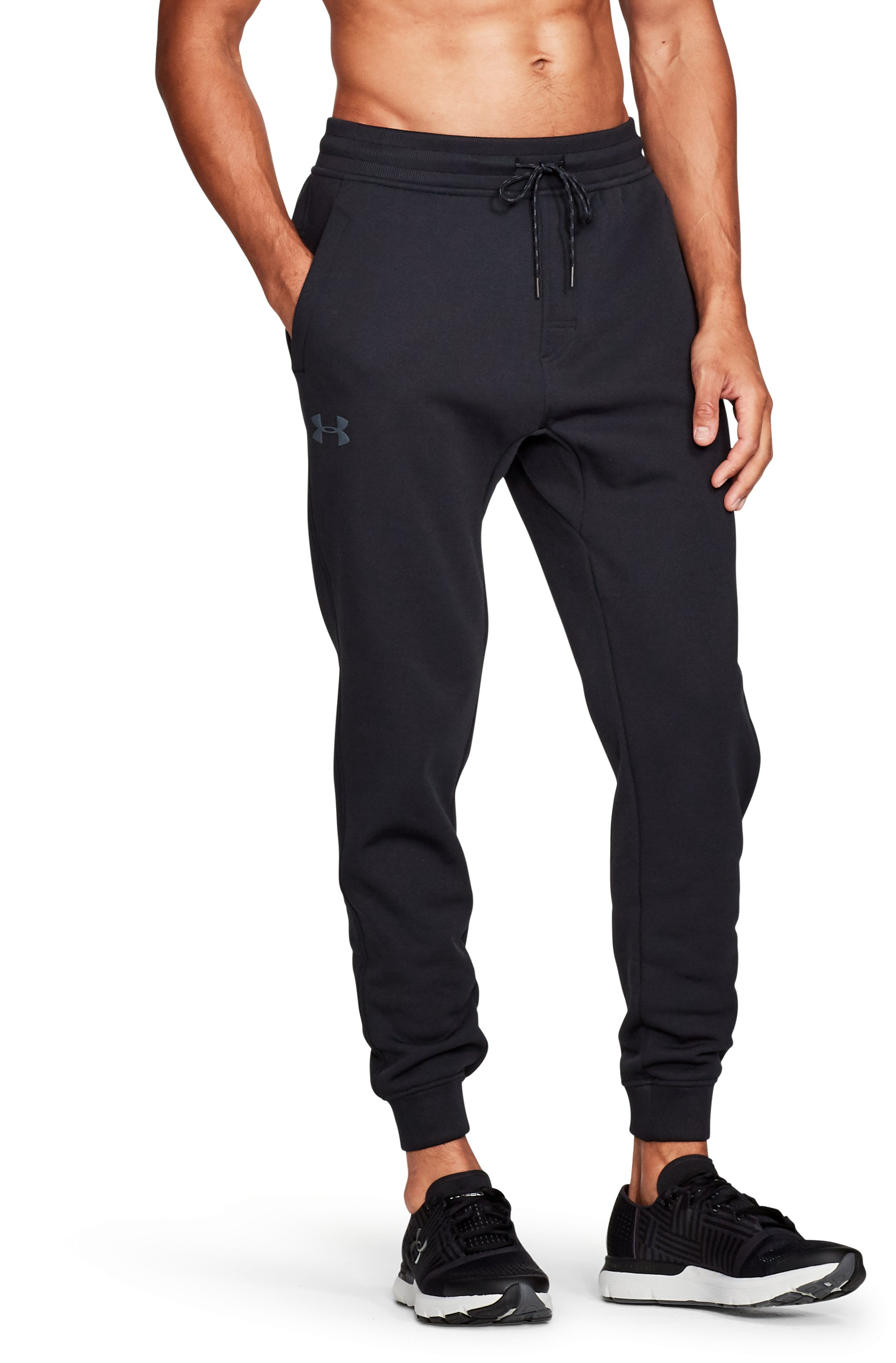 Men's Armour Fleece® Twill Jogger, Black ,