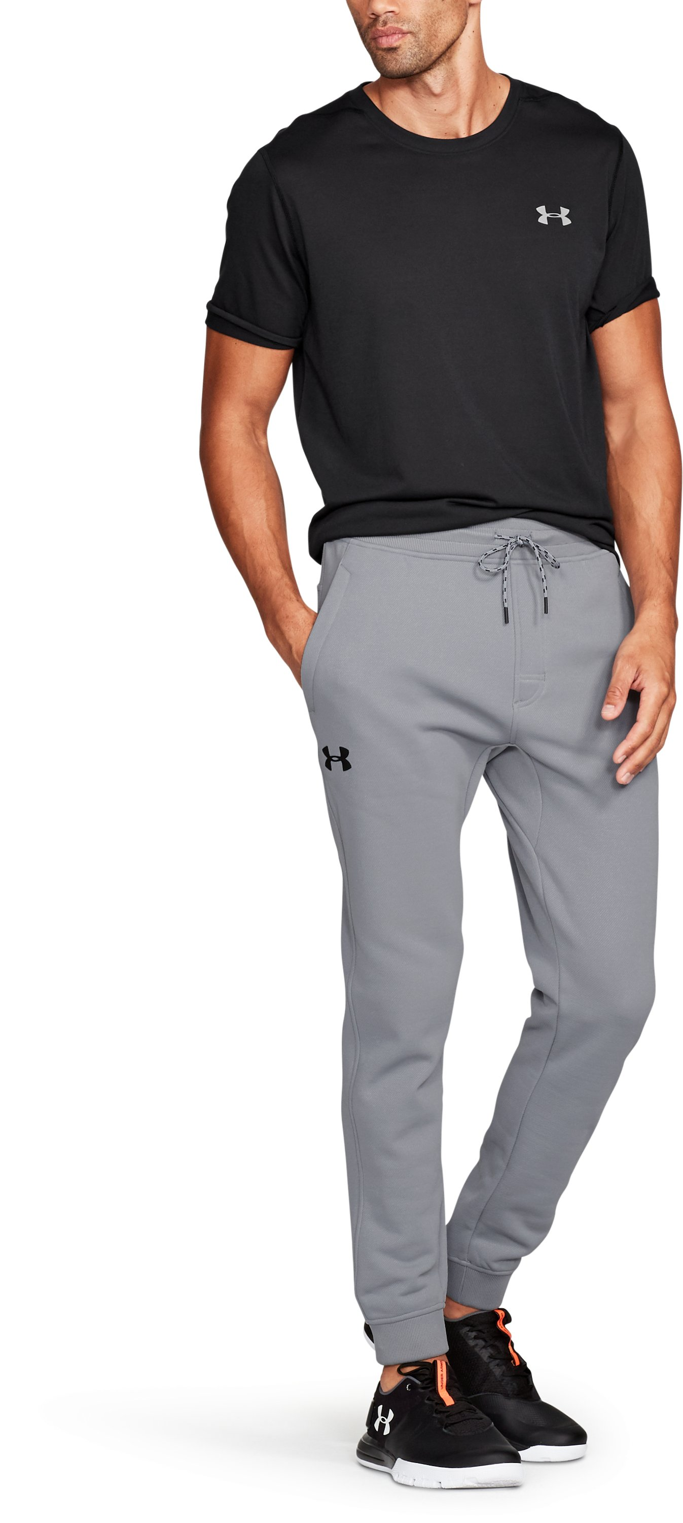 Men's UA Storm Armour® Fleece Twill Jogger, Steel