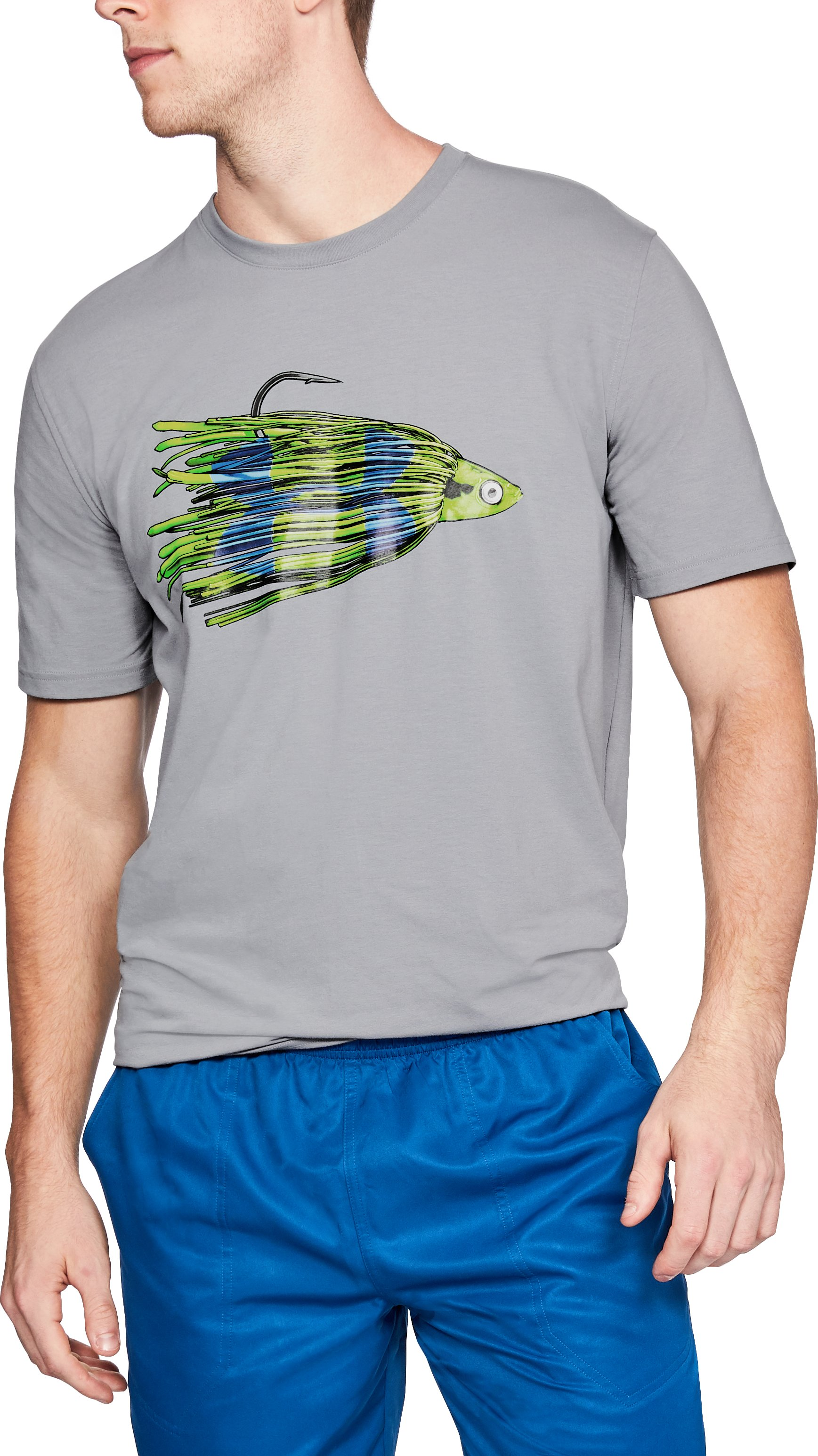 Men's UA Jig Logo T-Shirt, Steel