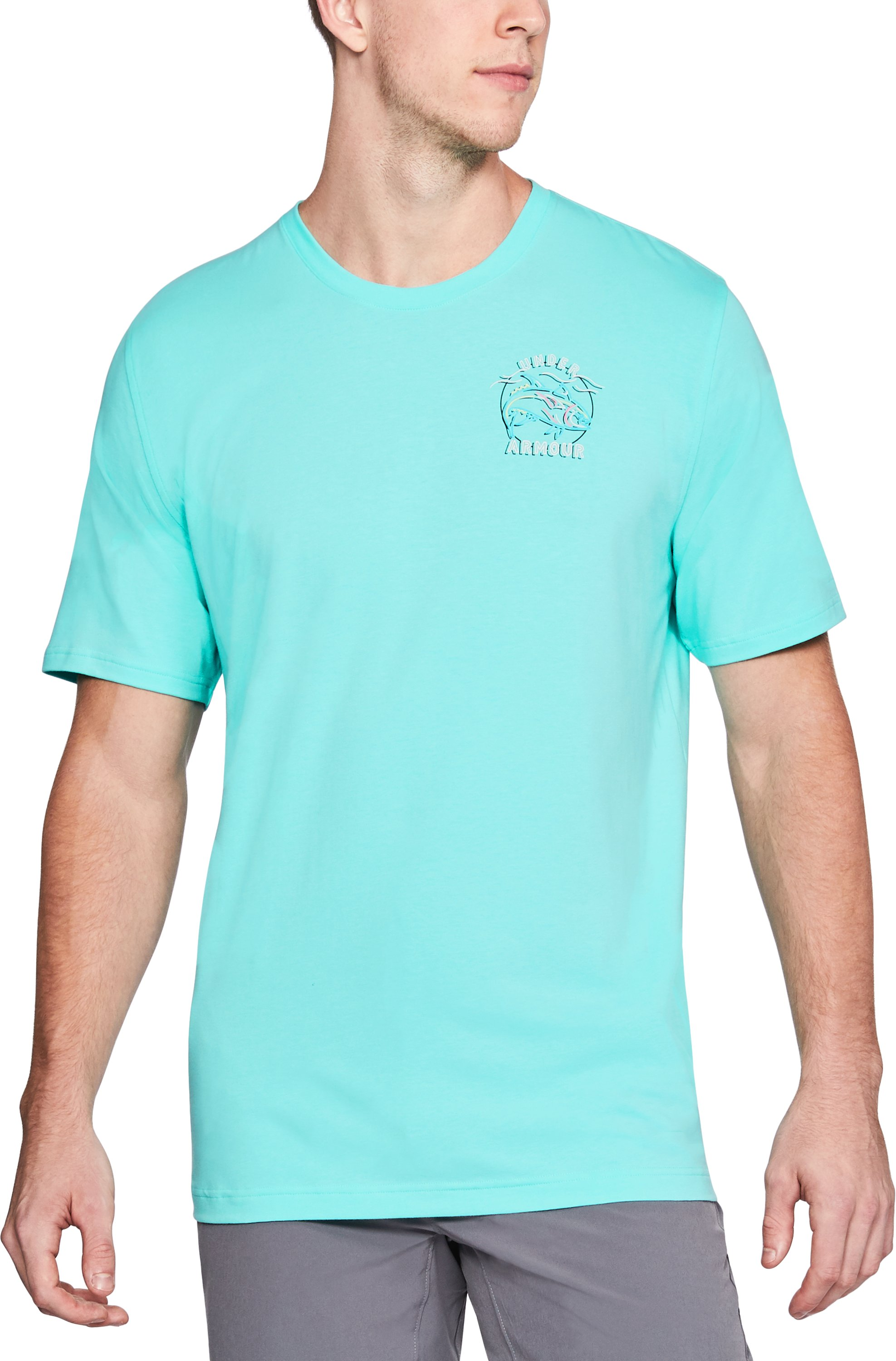 Men's UA Neon Tuna T-Shirt, TROPICAL TIDE