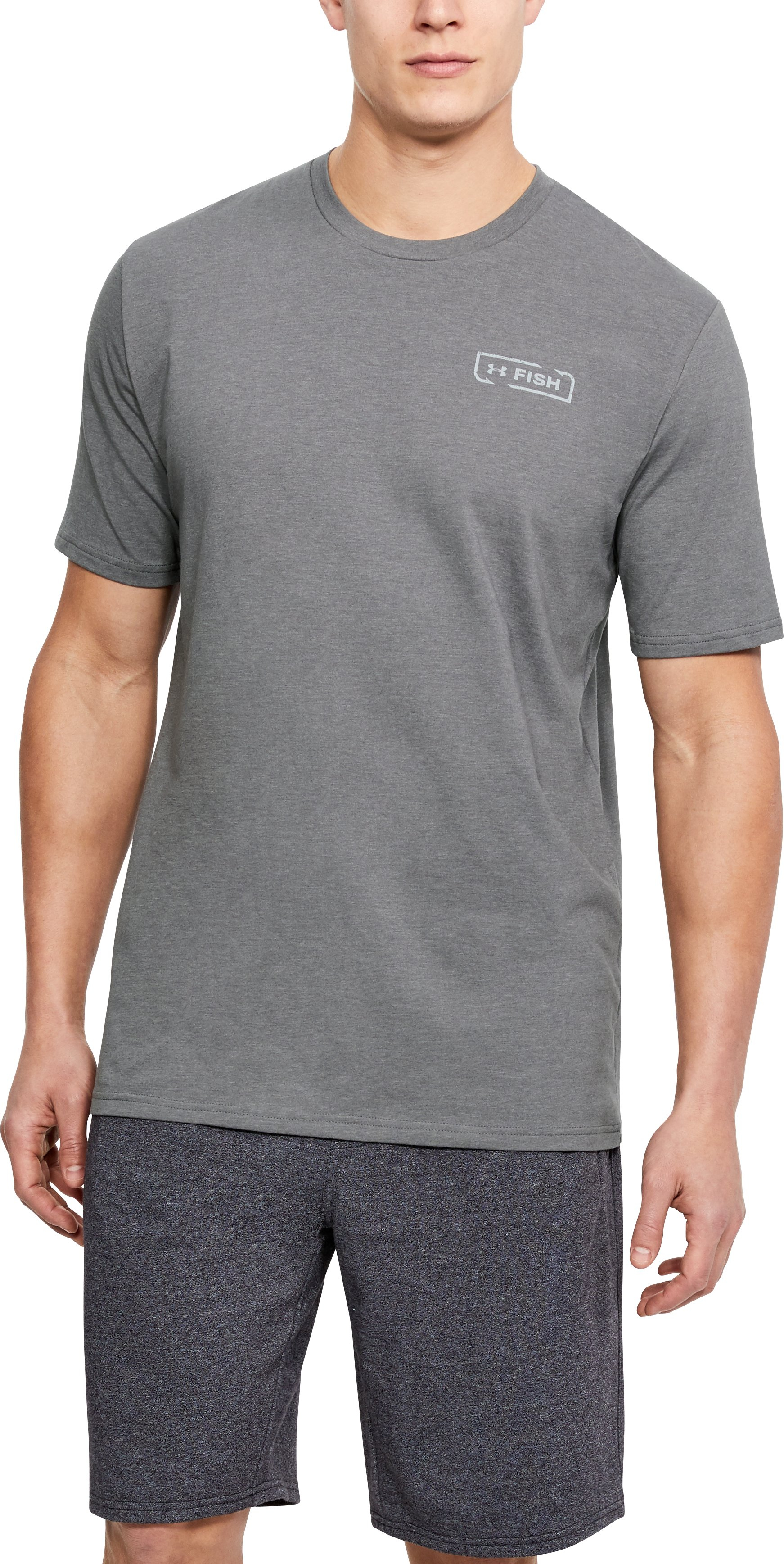 Men's UA Walleye Reel T-Shirt, GRAPHITE MEDIUM HEATHER,