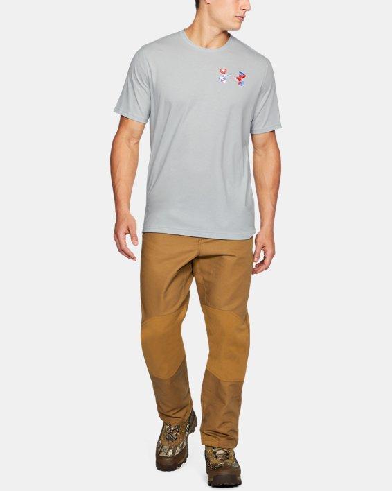 Men's UA AF Whitetail Skull T-Shirt, Gray, pdpMainDesktop image number 1