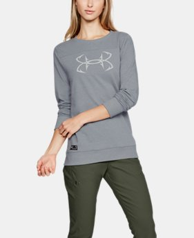Women's UA Microthread Shoreline Terry Crew  2  Colors $55