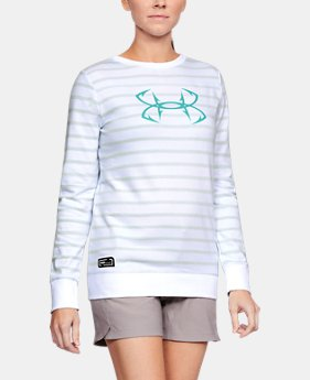 Women's UA Microthread Shoreline Terry Crew  1  Color Available $55