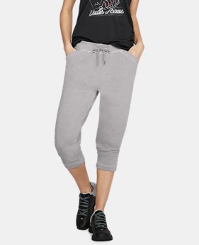 Women's UA Microthread Shoreline Terry Crop  1  Color $60