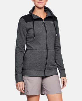 New Arrival Women's UA Microthread Shoreline Terry Full Zip  1 Color $70