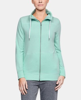 New Arrival Women's UA Microthread Shoreline Terry Full Zip  2 Colors $70