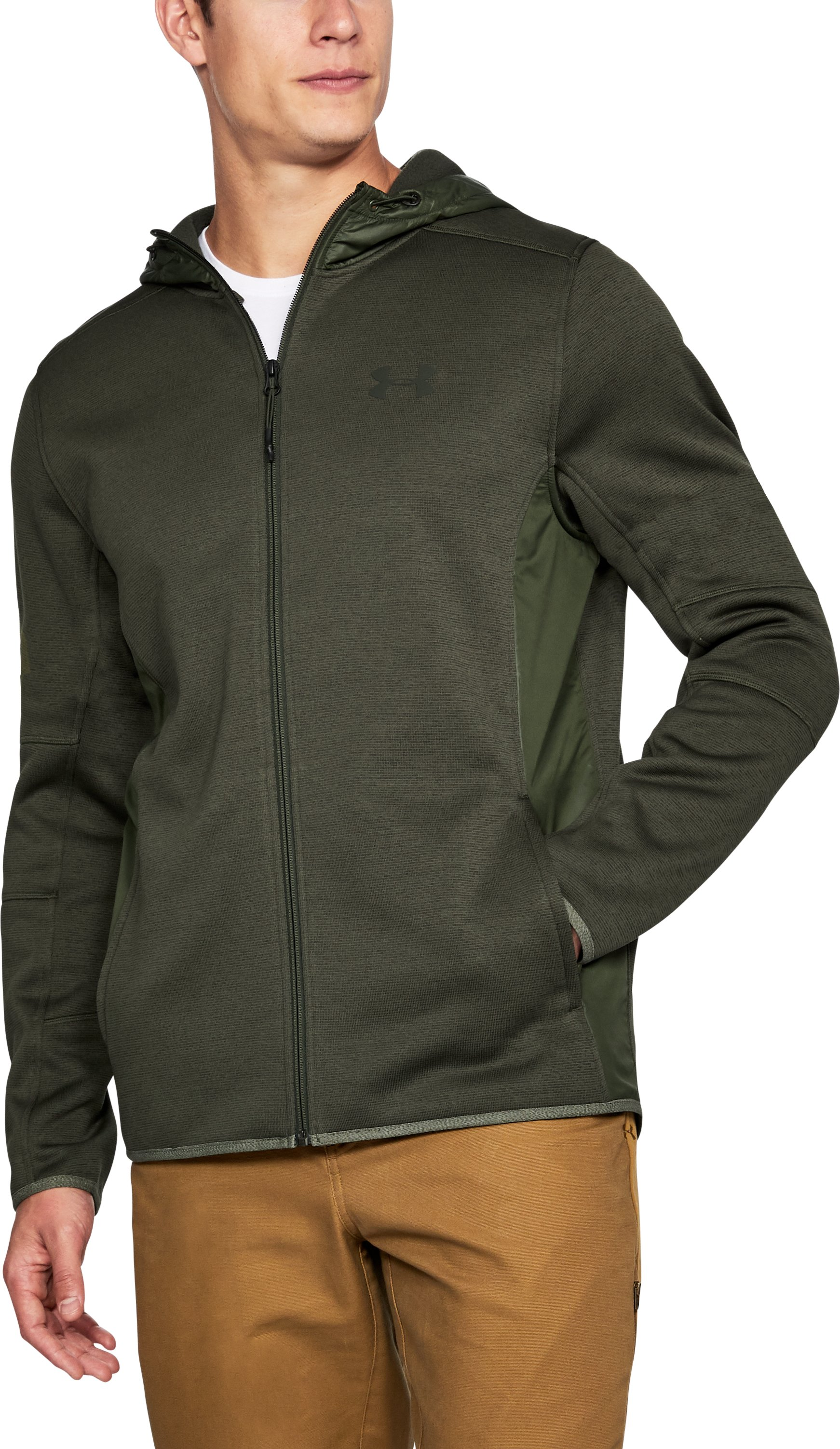 Men's UA Swacket, Rifle Green