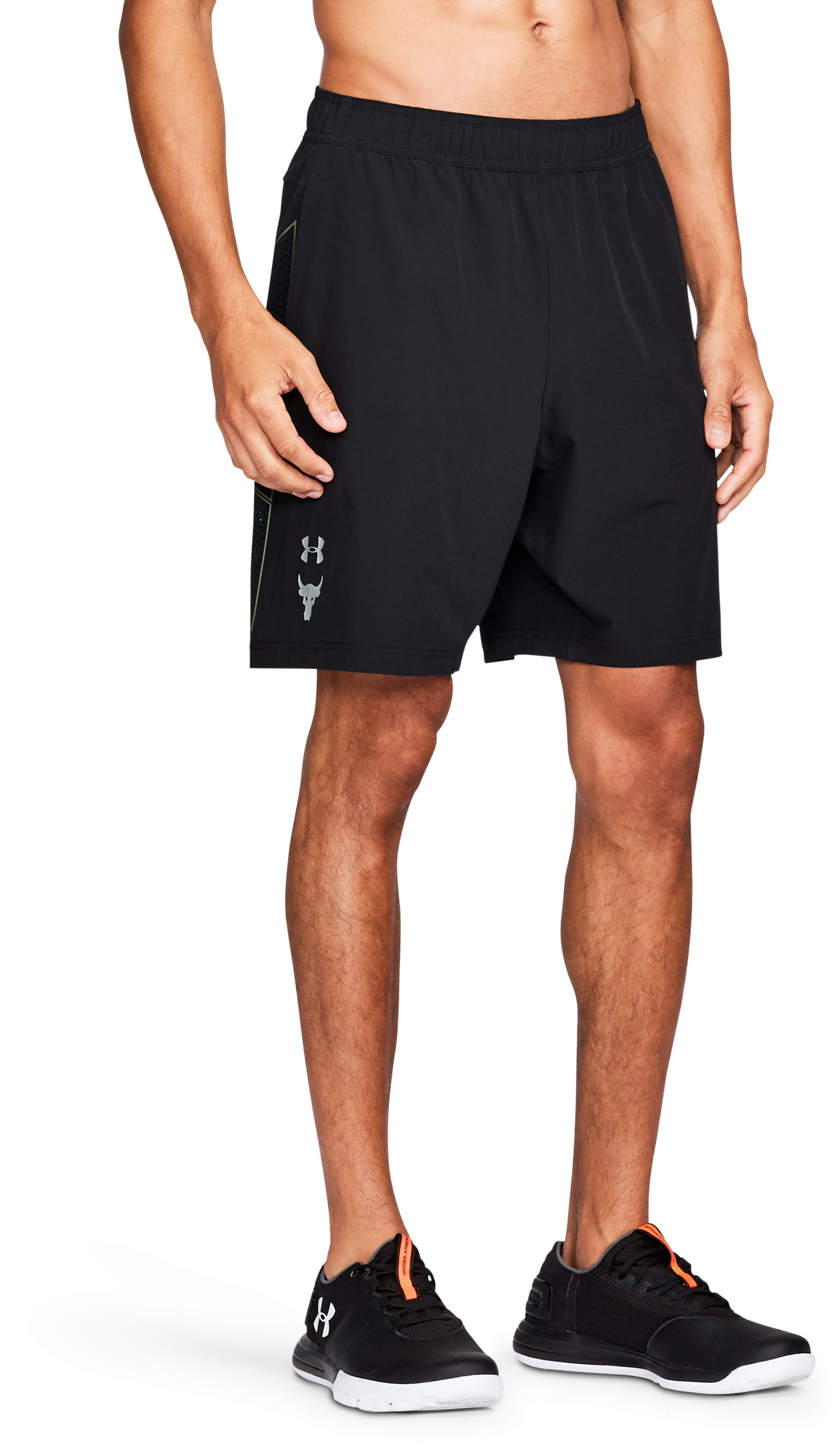 Men's UA x Project Rock Vortex Shorts, Black