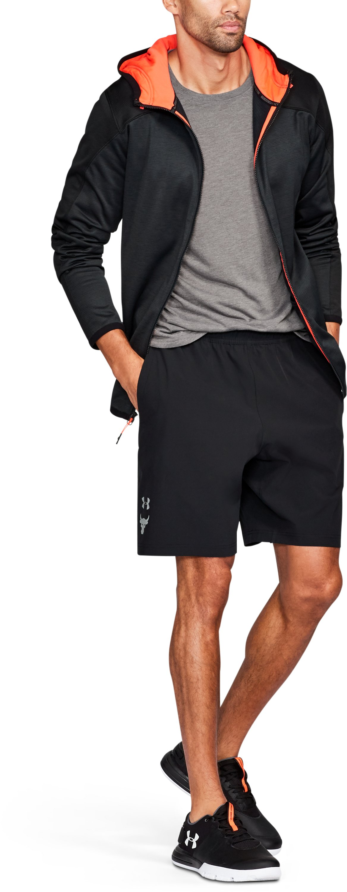 Men's UA x Project Rock Vortex Shorts, Black , undefined