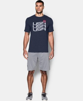 New Arrival Men's UA Stars & Stripes T-Shirt  1 Color $24.99