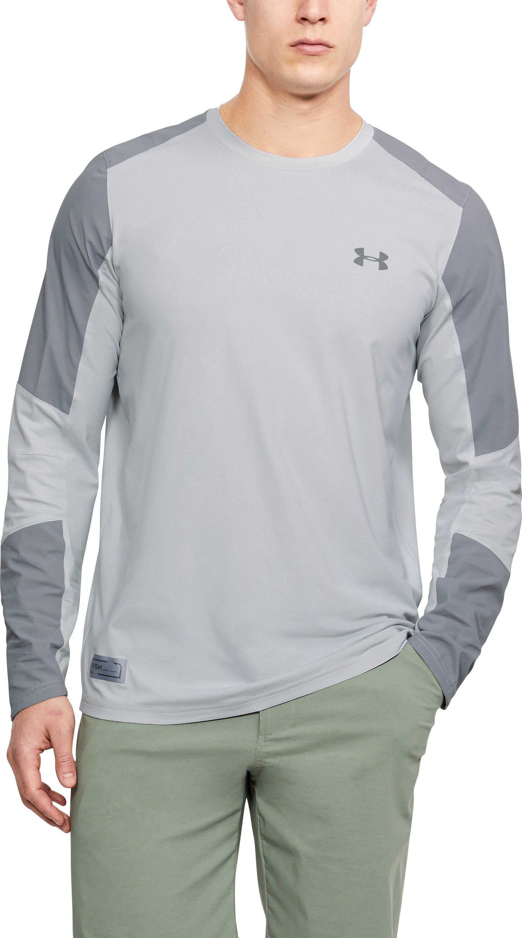 Men's UA CoolSwitch Hybrid Crew, Elemental, undefined