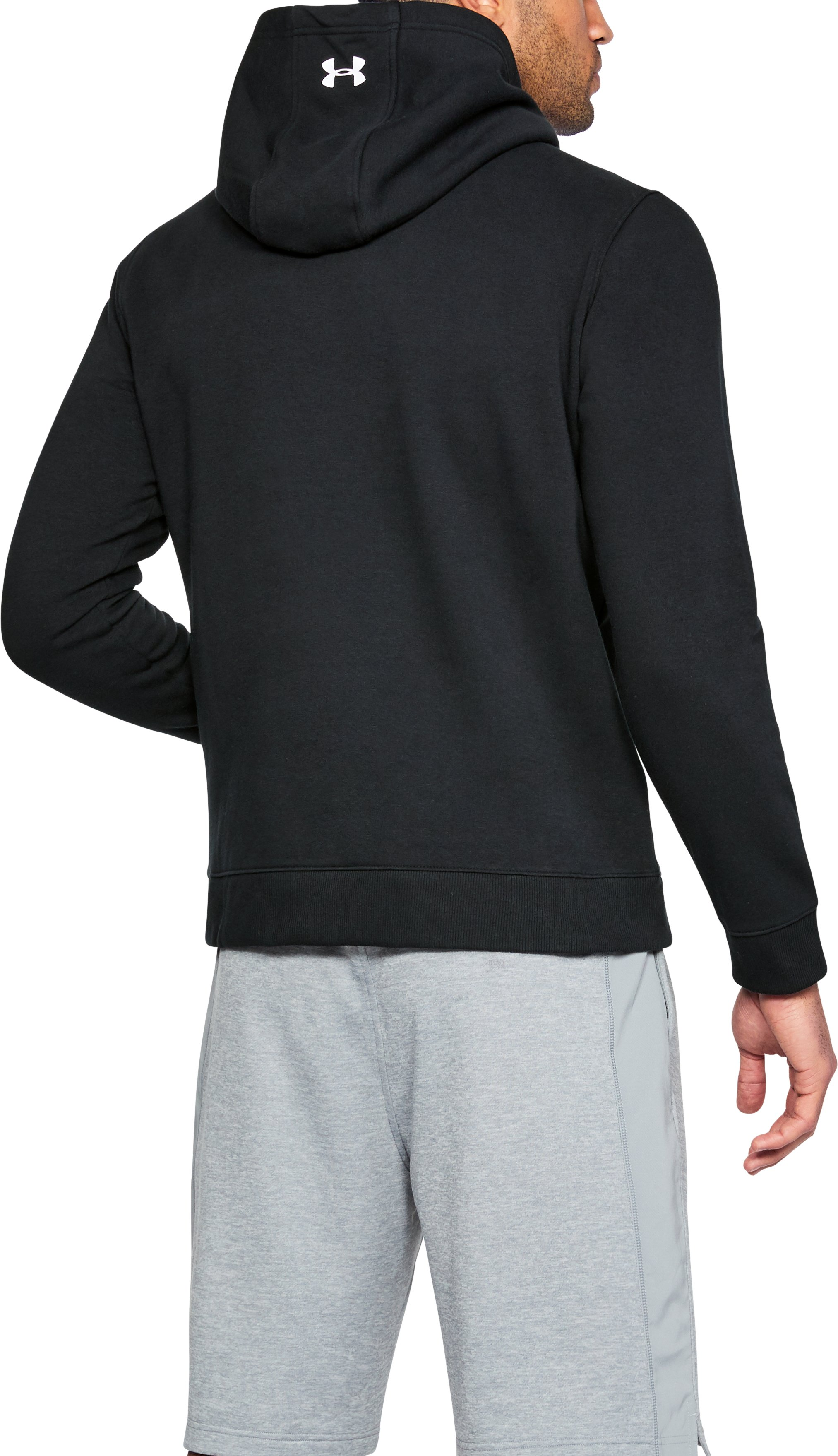 Men's UA Freedom Microthread Fleece Hoodie, Black , undefined