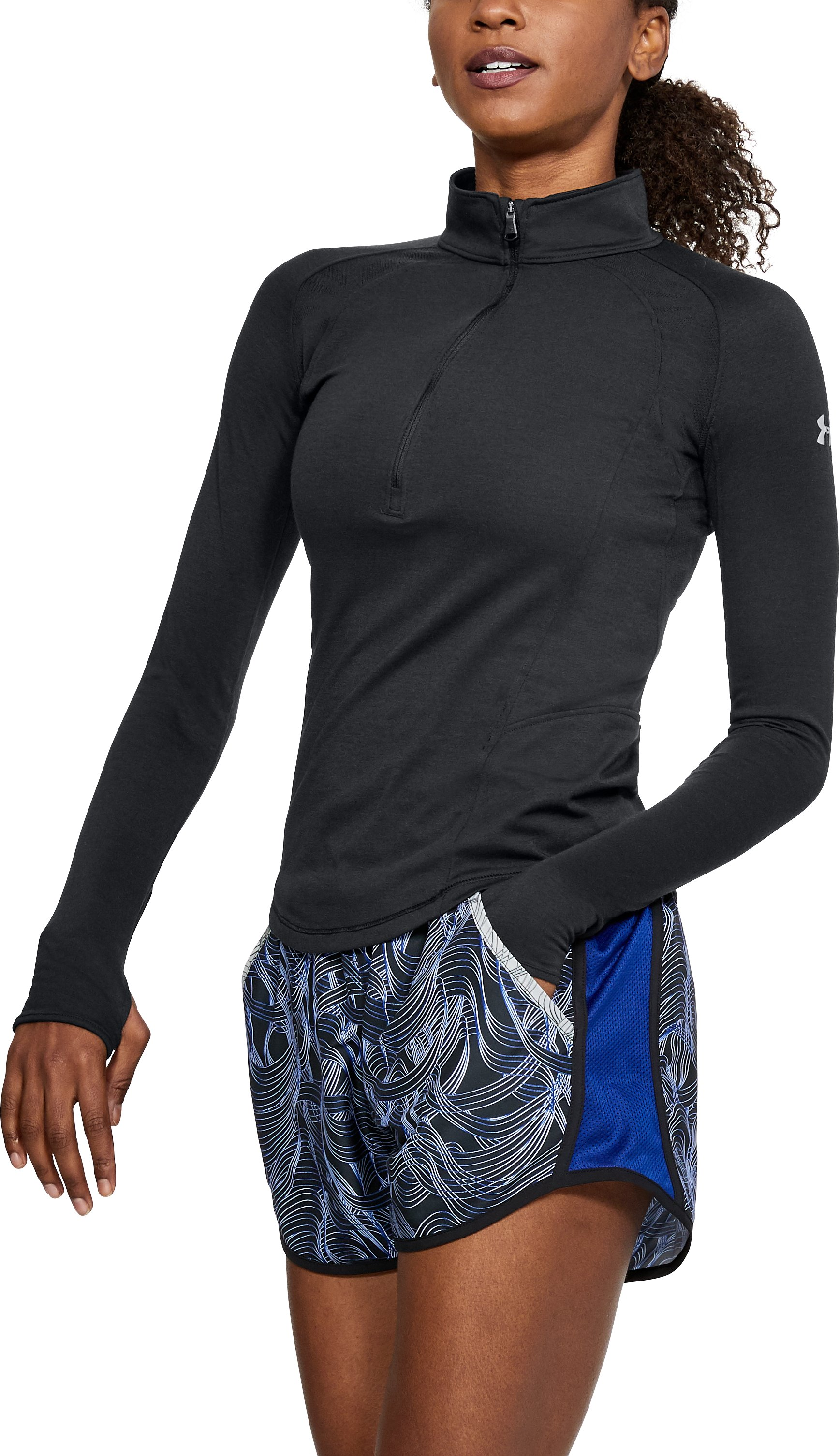 Women's UA Swyft ½ Zip, Black