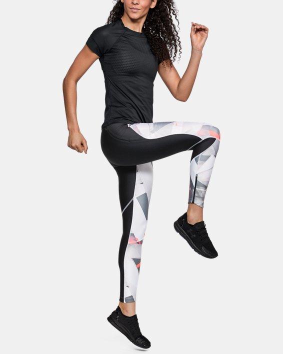 Women's UA HexDelta Short Sleeve, Black, pdpMainDesktop image number 1