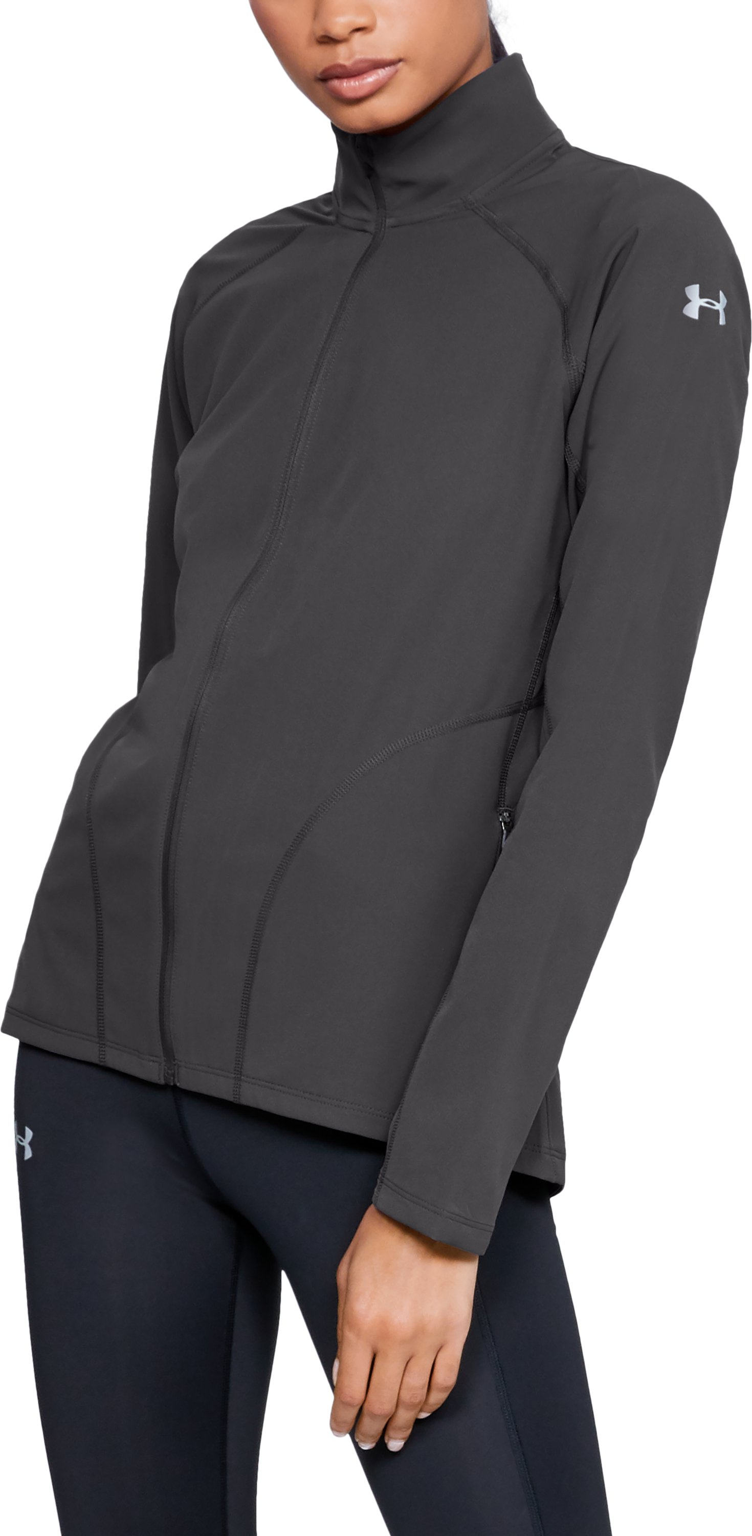 Women's UA Storm Launch Jacket, Charcoal