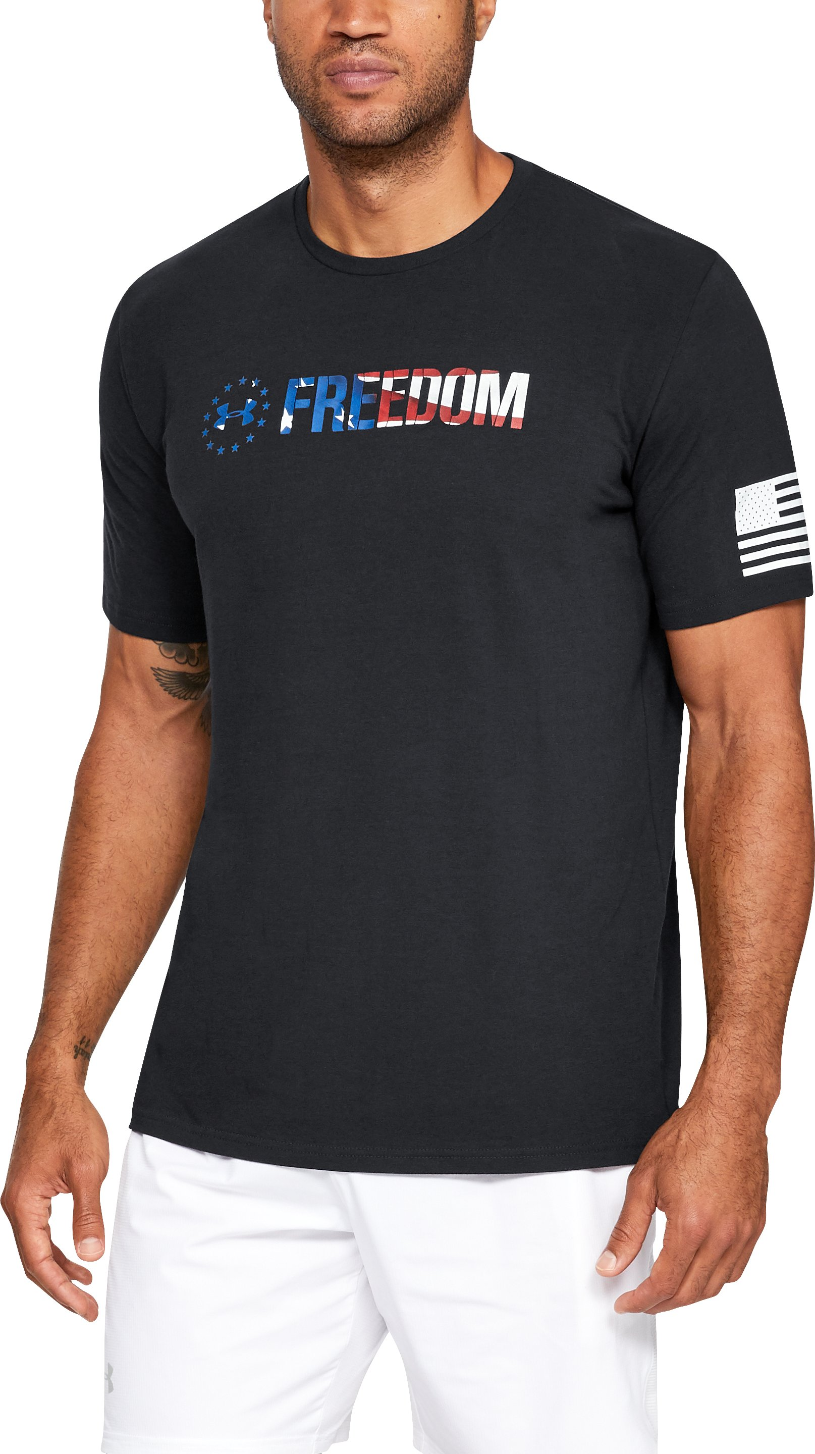 Men's UA Freedom Chest T-Shirt, Black ,