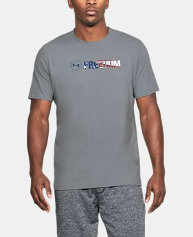 Men's UA Freedom Chest T-Shirt  1  Color Available $25
